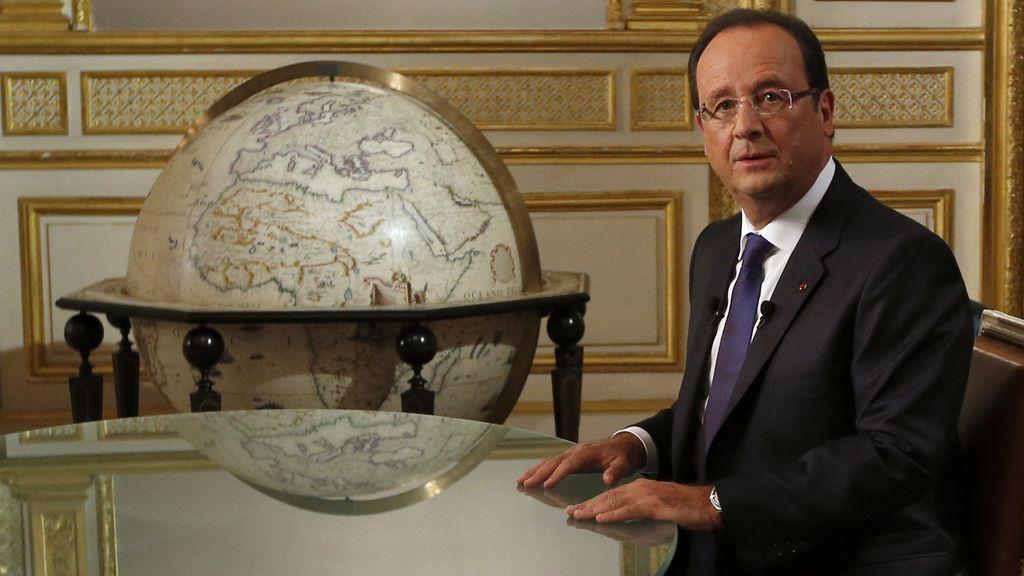 François Hollande, en la entrevista en televisión