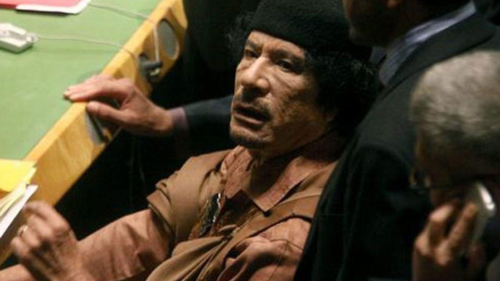 Muamar El Gadafi, líder militar de Libia