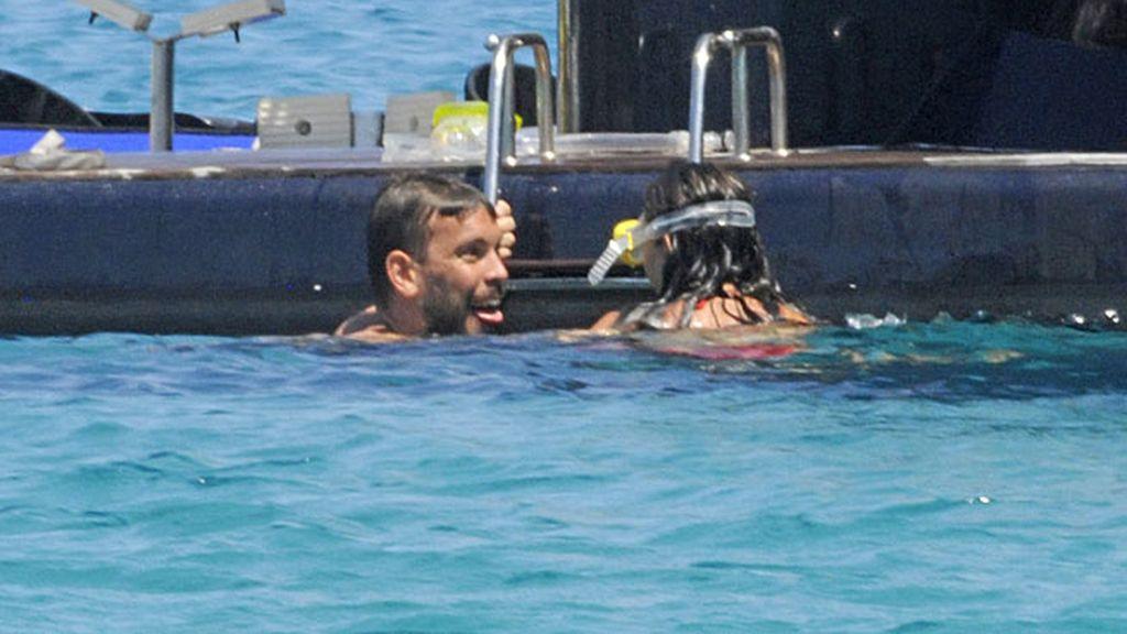 Marc Gasol y Cristina Blesa, buceando en Menorca