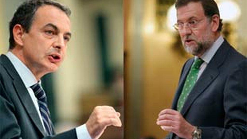 El presidente del Gobierno y el líder del PP, Mariano Rajoy, cara a cara hoy en el Congreso. Video: Informativos Telecinco