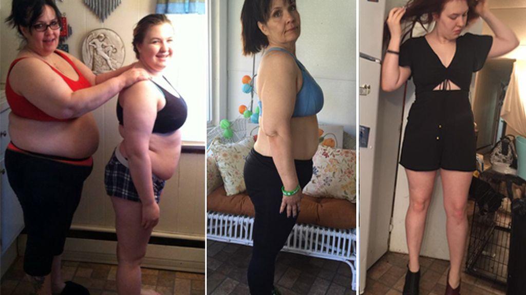 La lucha conjunta de una madre y su hija para lograr una increíble pérdida de peso