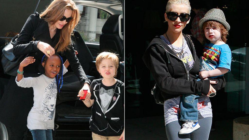 Angelina Jolie, y Christina Aguilera
