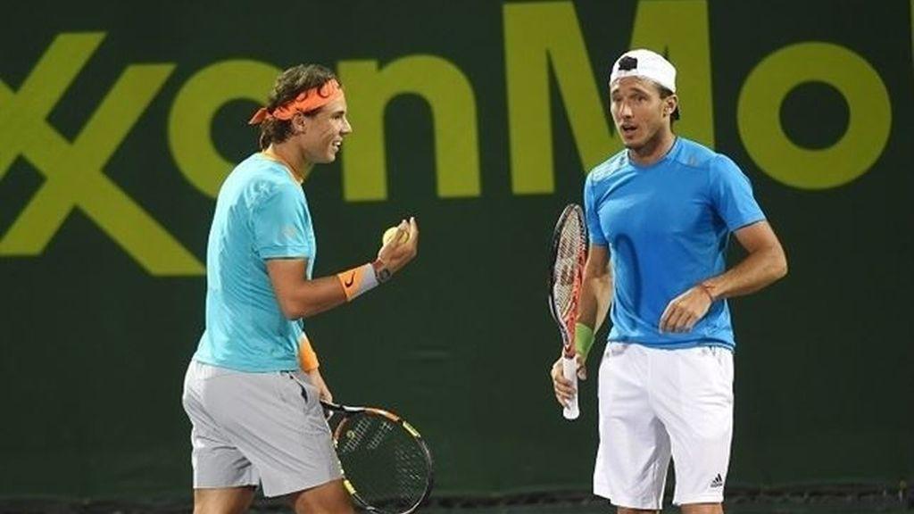 Nadal y Mónaco ganan su primer título de dobles en Doha
