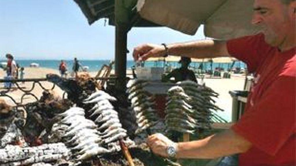 En Andalucía hay 800 chiringuitos de playa. Imagen: Informativos Telecinco