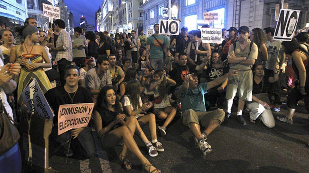 Concentraciones para pedir la dimisón de Rajoy