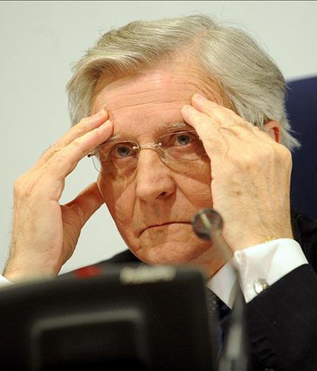 El presidente del Banco Central Europeo, Jean-Claude Trichet, ayer en Praga. EFE