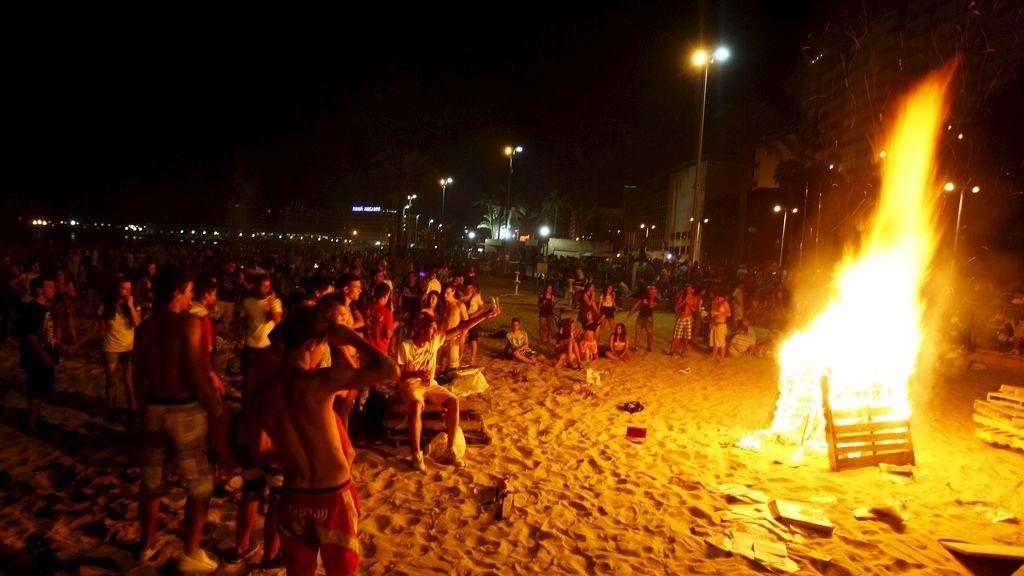 La playa del Postiguet en Alicante