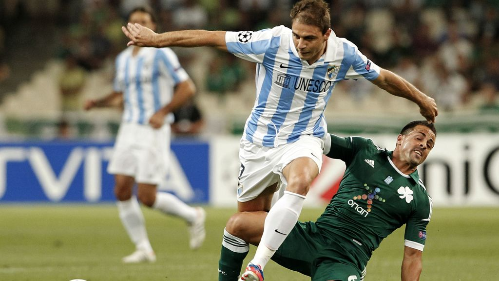 Joaquin, jugador del Málaga en el partido contra el Panathinaikos. Foto: Gtres