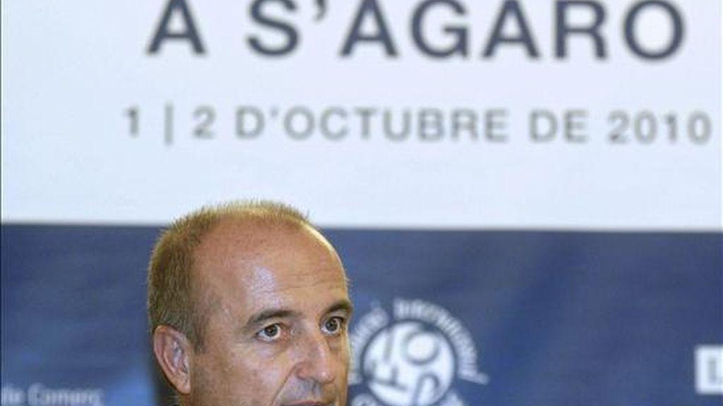 El ministro de Industria, Miguel Sebastián, durante su intervención en la segunda jornada de la XV Trobada d'Economía a S'Agaró. EFE