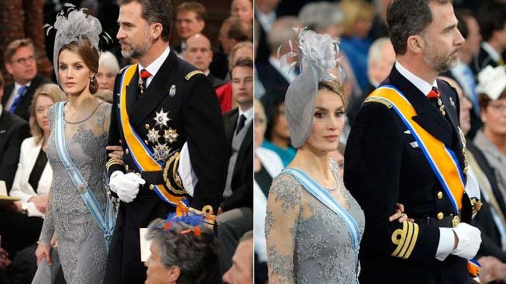 La elegancia de los príncipes de Asturias en la coronación de Guillermo de Holanda