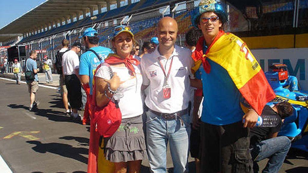 Con el equipo de Telecinco