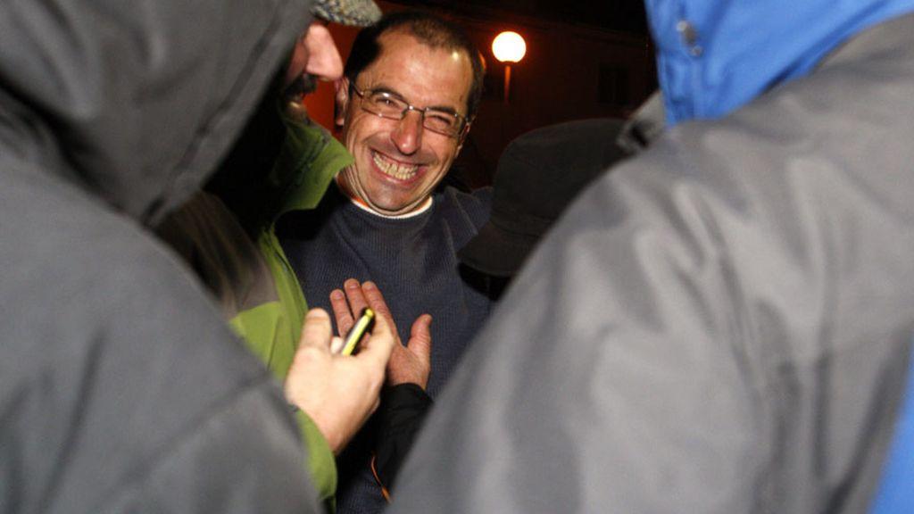 El etarra Pedro María Rezabal, sale de la prisión de Monterroso (Lugo)