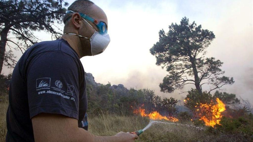 El incendio en Carnota arrasa 1.600 hectáreas