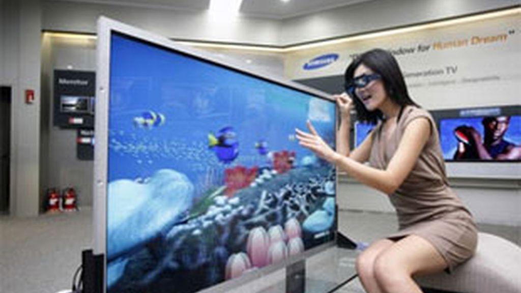 La televisión 3D de Samsung. Foto: archivo