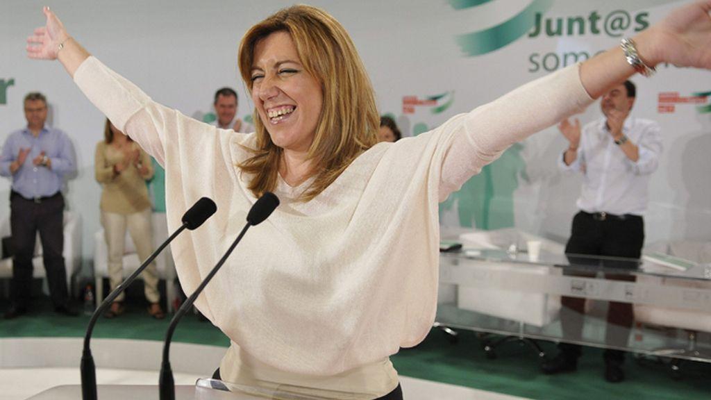 Susana Díaz acuerda con IU agotar la legislatura en Andalucía