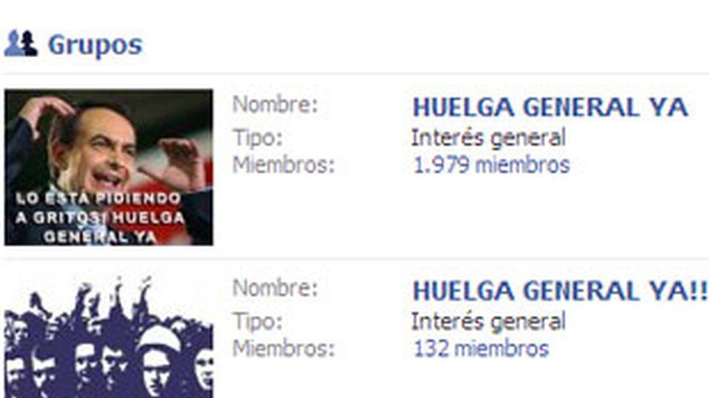 "Cerca de un centenar de grupos en Facebook llaman a una ""huelga general"". Foto: Facebook."