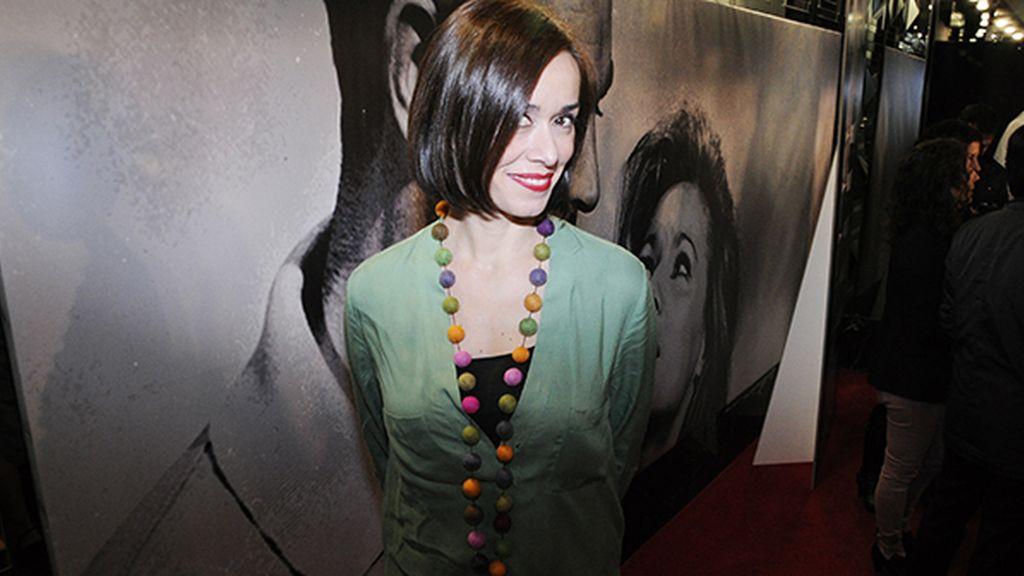 """Fanny Gautier, que está rodando la película """"Barcelona Nit d'Hivern"""", a su llegada al cine Callao"""