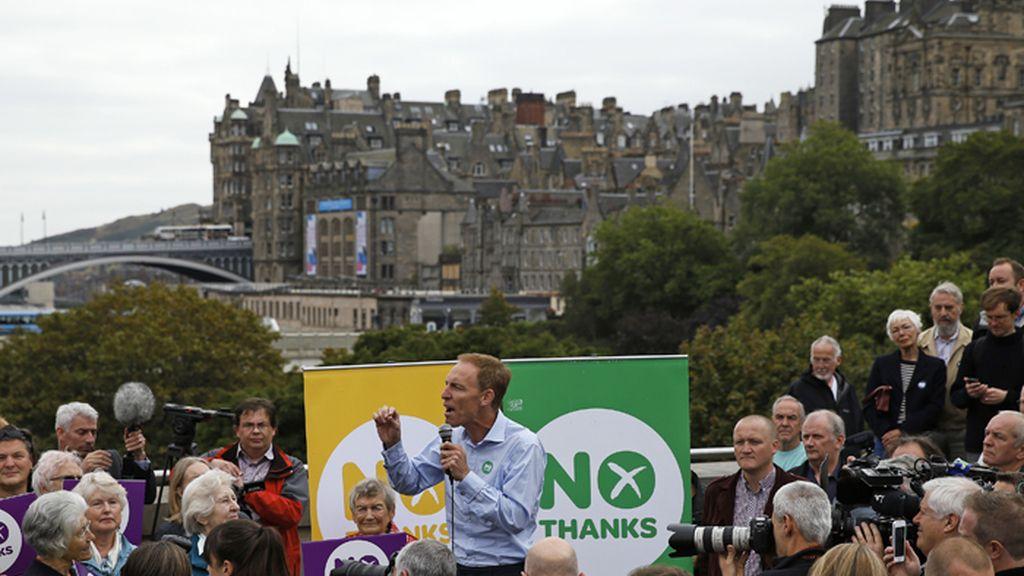 Mitin de partidarios del 'no' a la independencia de Escocia
