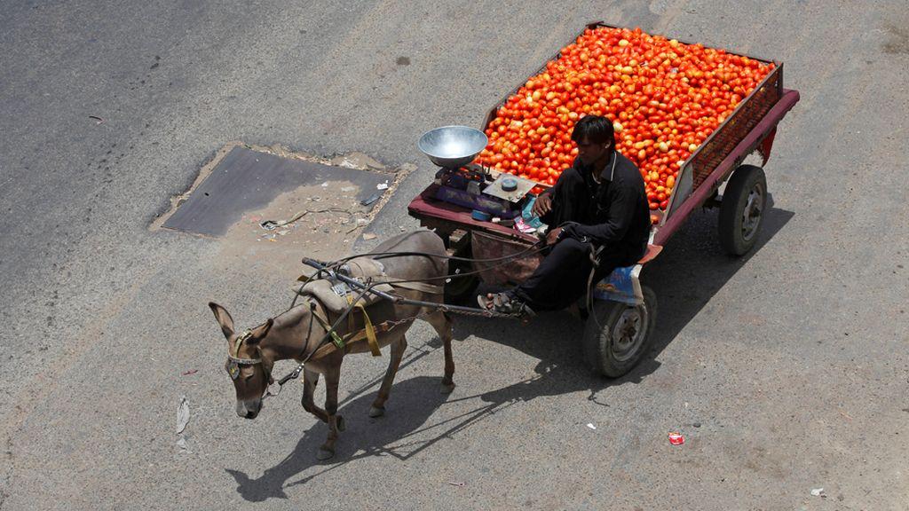 Venta ambulante en Pakistan
