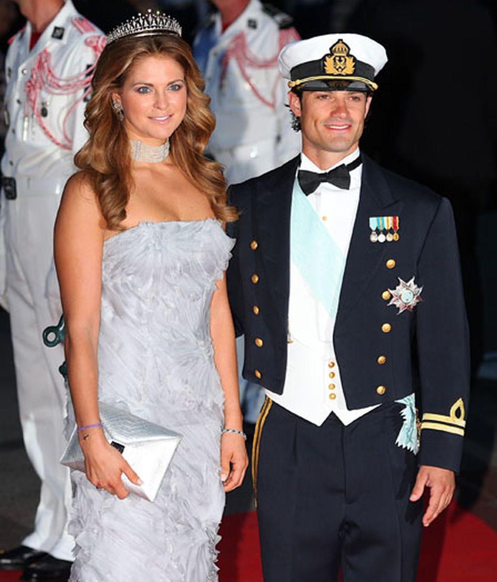 Los príncipes Magdalena y Carlos Felipe de Suecia