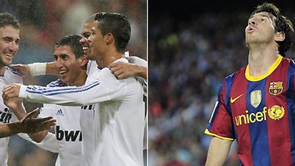 Mientras el Madrid parece haber recuperado su olfato, al Barça se le ha desviado la mirilla. FOTOS: Archivo.