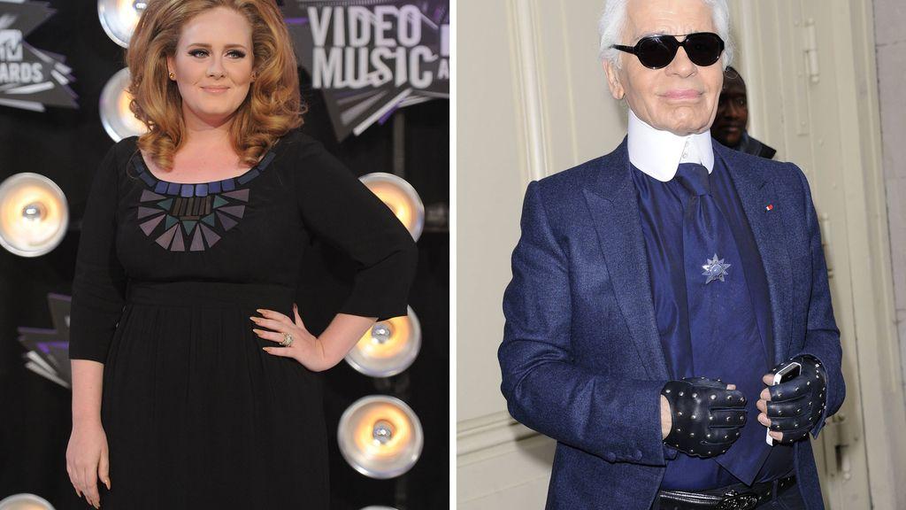 Adele y Karl Lagerfeld