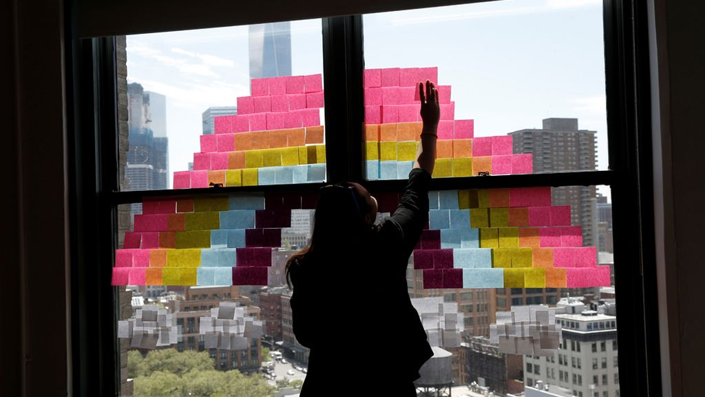 Guerra de Post-it en Nueva York