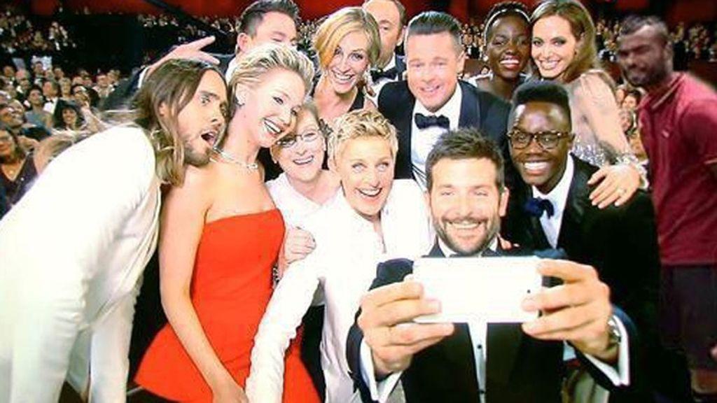 Ashley Cole en el selfie de la gala de los Oscar
