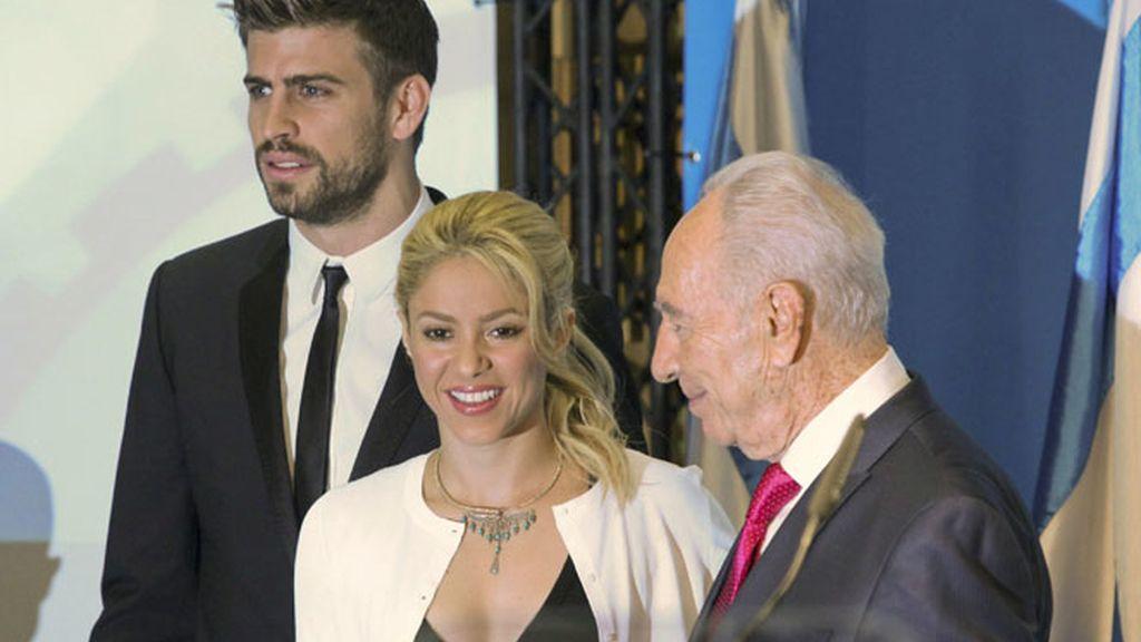 Shakira y Piqué se han reunido con el presidente del Israel, Simon Peres.