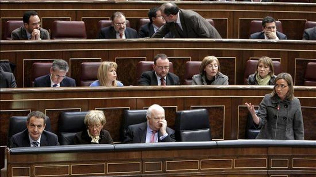 Vista parcial de la bancada del Gobierno en el Congreso. EFE/Archivo