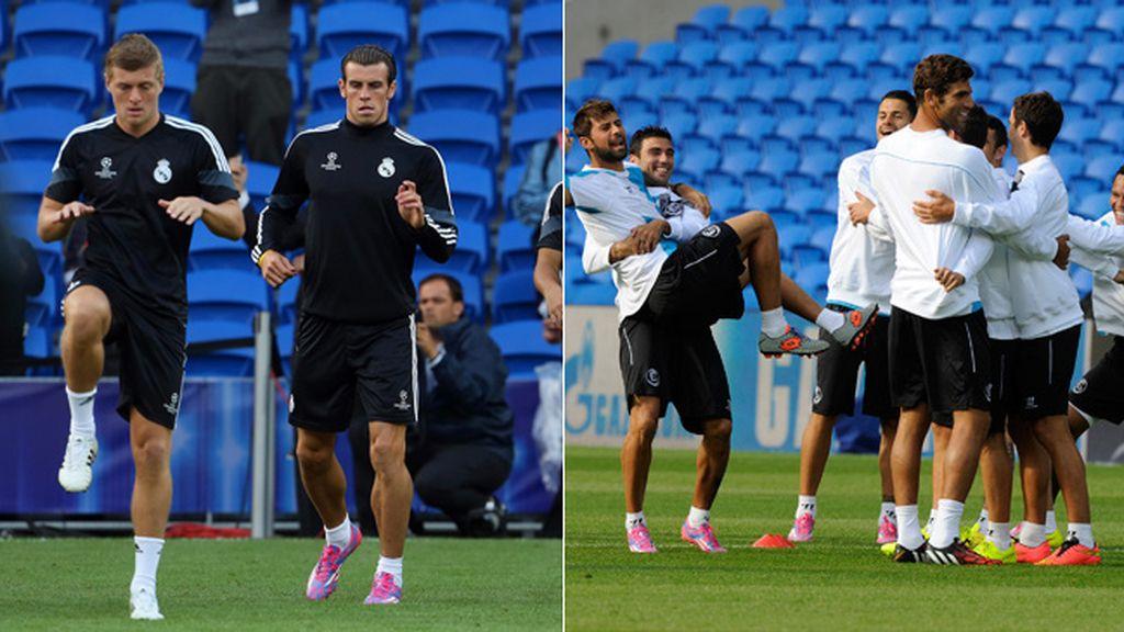 Último entrenamiento del Real Madrid y Sevilla antes de jugar la Supercopa de Europa