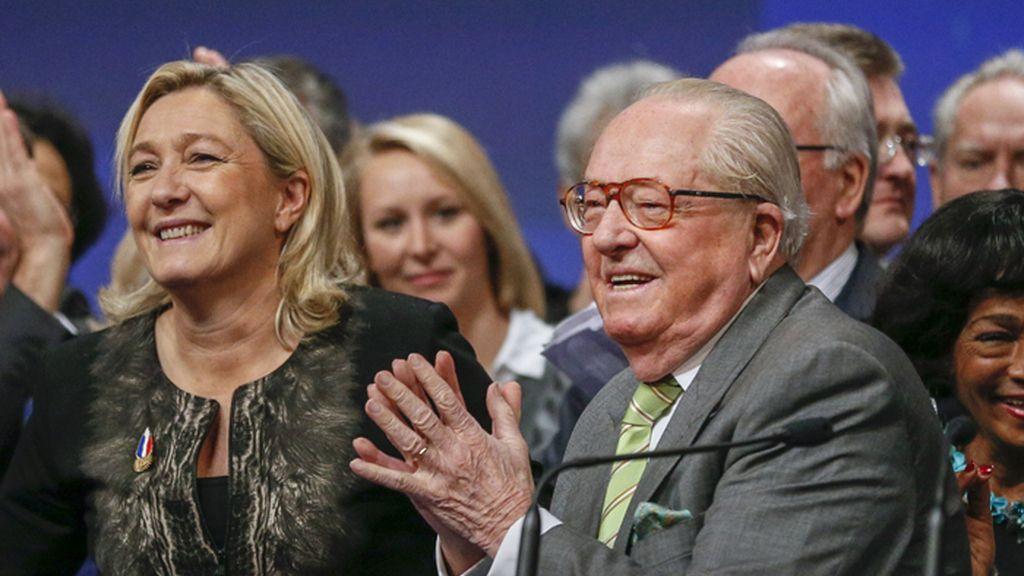 Marine Le Pen y su padre, Jean-Marie Le Pen