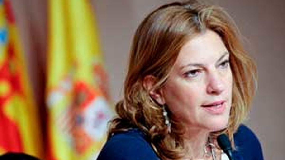 Paula Sánchez de León, consellera de Justicia, ha dado una rueda de prensa para presentar las medidas del Gobierno valenciano con respecto a la Ley del aborto. FOTO: EFE