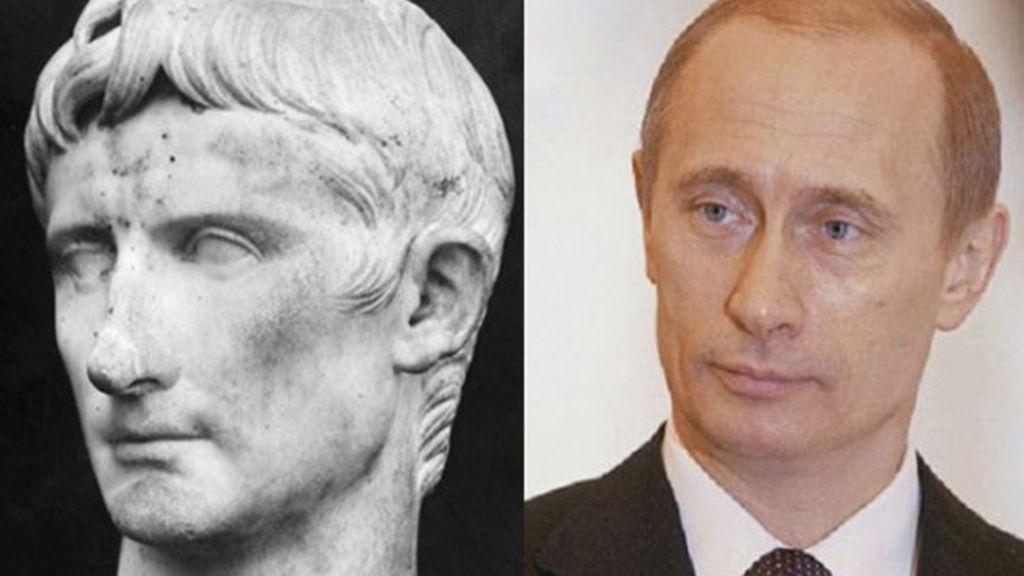 El emperador César Augusto y Vladimir Poutine