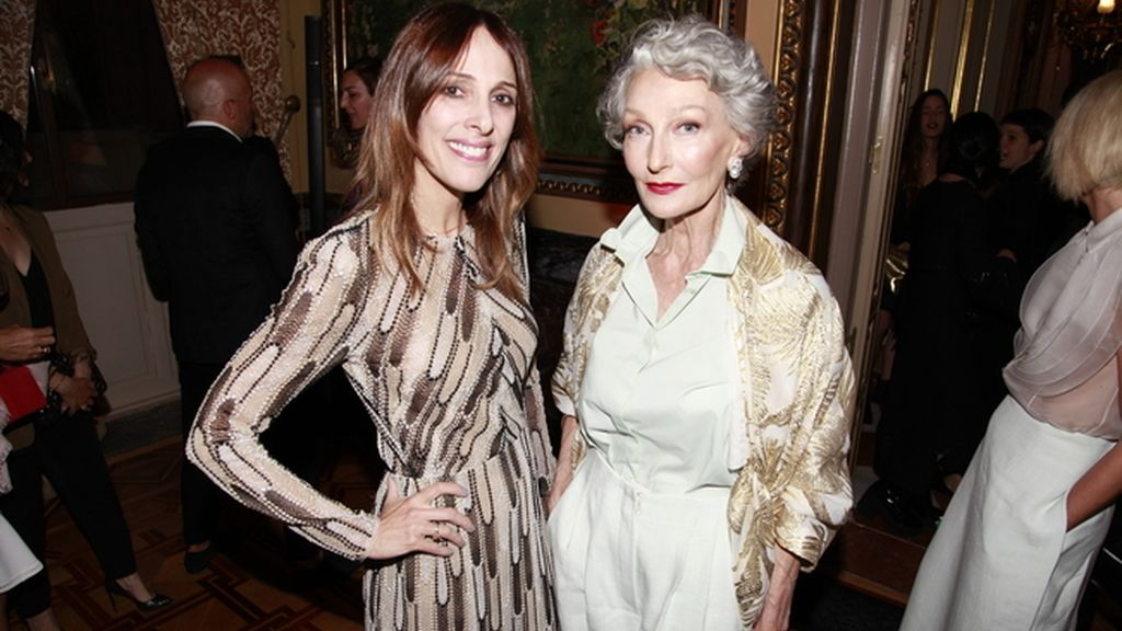 Yolanda Sacristán, directora de Vogue España, con Alicia Borrás
