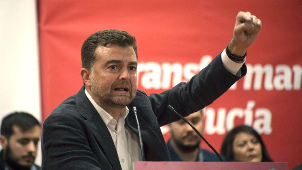 Mitin en Jaén de Antonio Maíllo, candidato de Izquierda Unida a la presidencia de la Junta de Andalucía