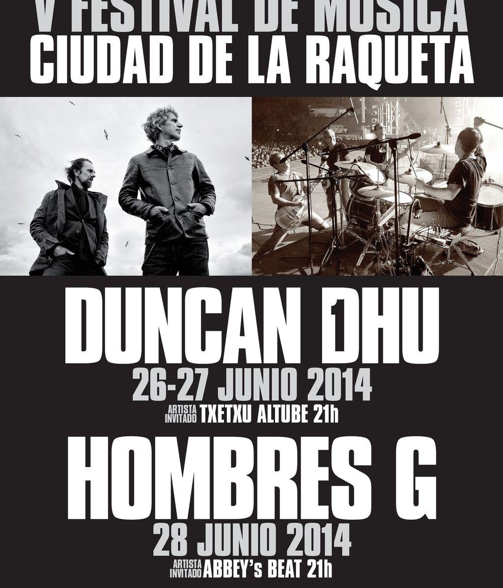 Cartel del Festival de Música Ciudad de la Raqueta
