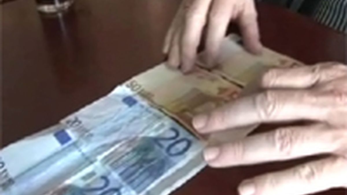 Falsificación de dinero. Vídeo: Informativos Telecinco.