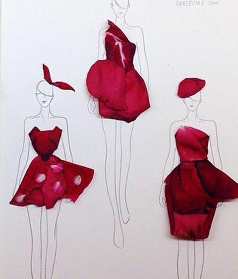 Diseños De Vestidos Hecho Con Flores