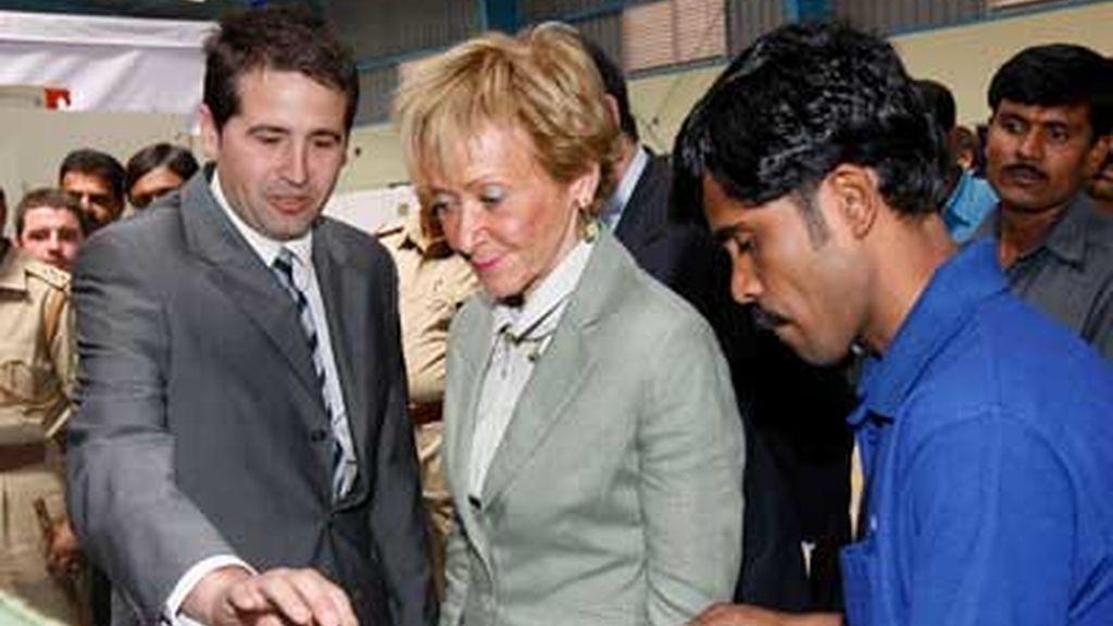 La vicepresidenta del Gobierno durante su visita oficial. Vídeo: Informativos Telecinco