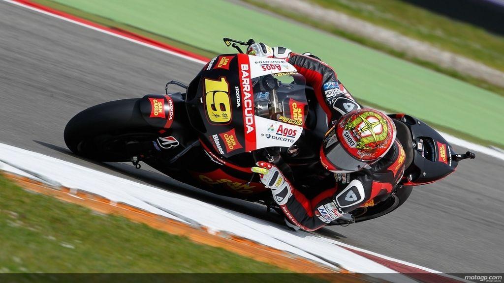 Álvaro Bautista en los segundos libres del GP de Holanda