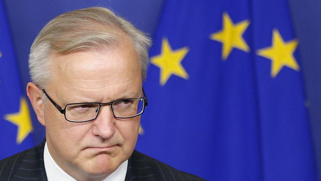 El vicepresidente económico de la Comisión Europea, Olli Rehn, comenta la reducción del déficit en España