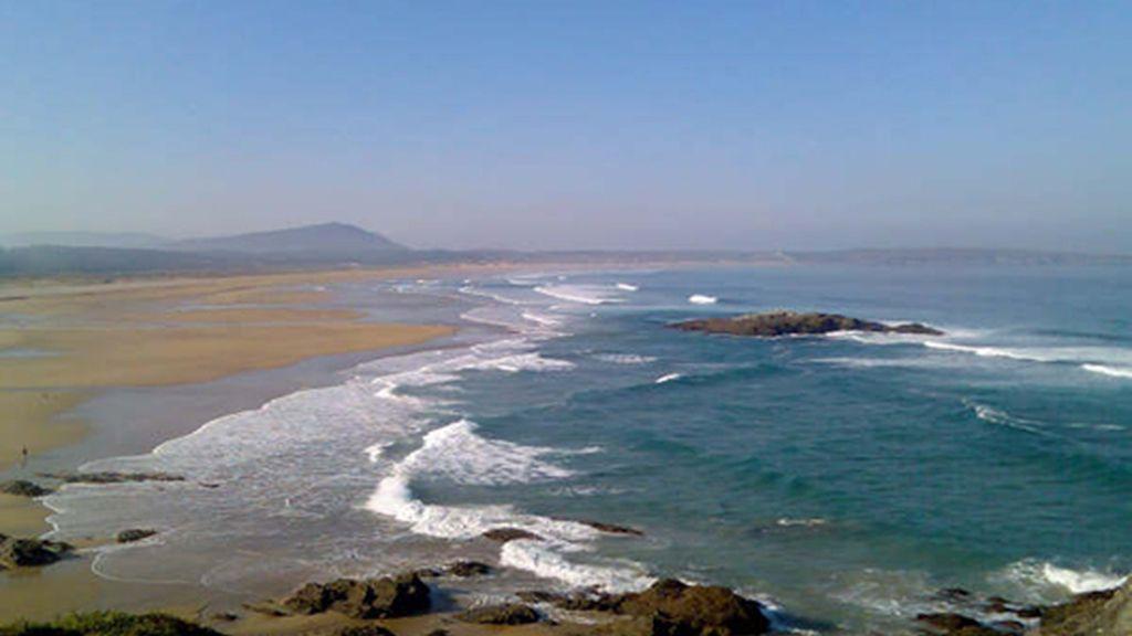 Playa A Frouxeira, en Valdoviño