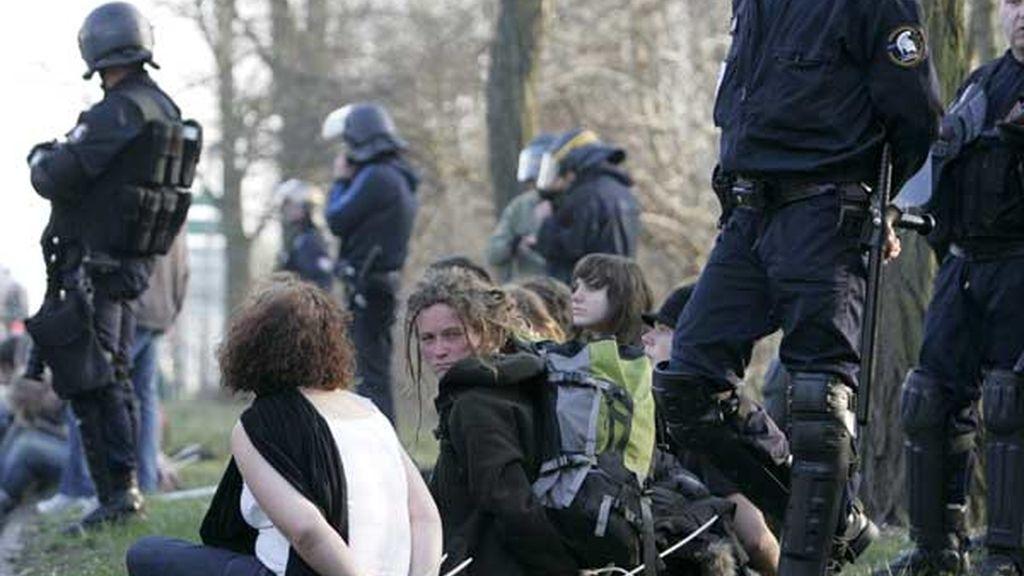 Enfrentamientos entre policía y manifestantes