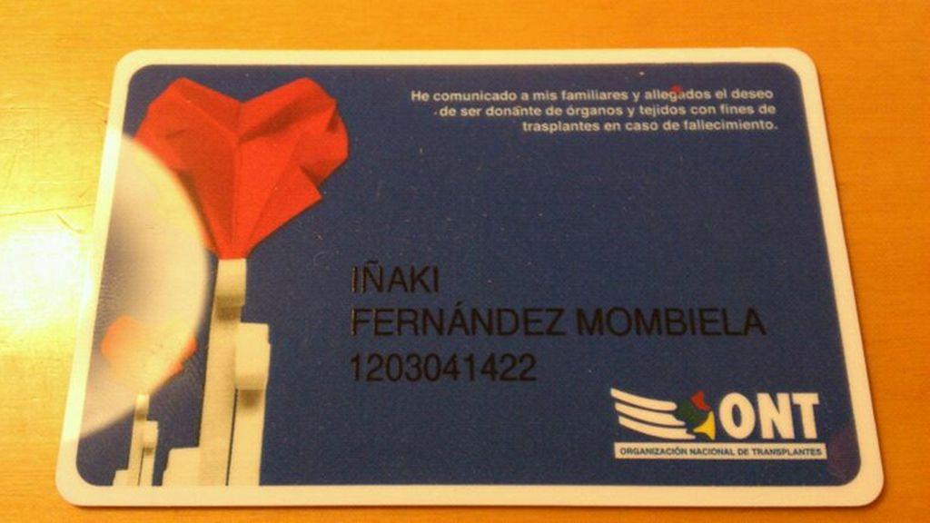 La tarjeta de Iñaki Fernández