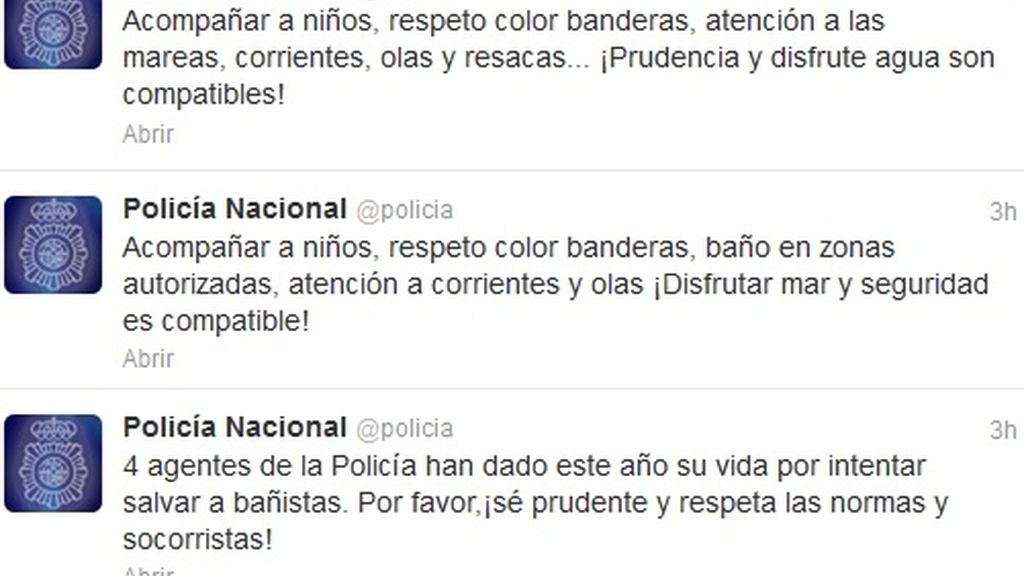 Consejos Policia Twitter