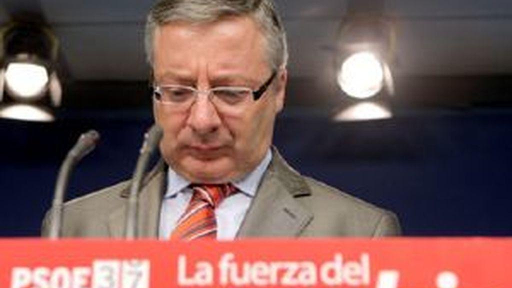 Blanco durante la presentación del Congreso de los socialistas. Foto: EFE