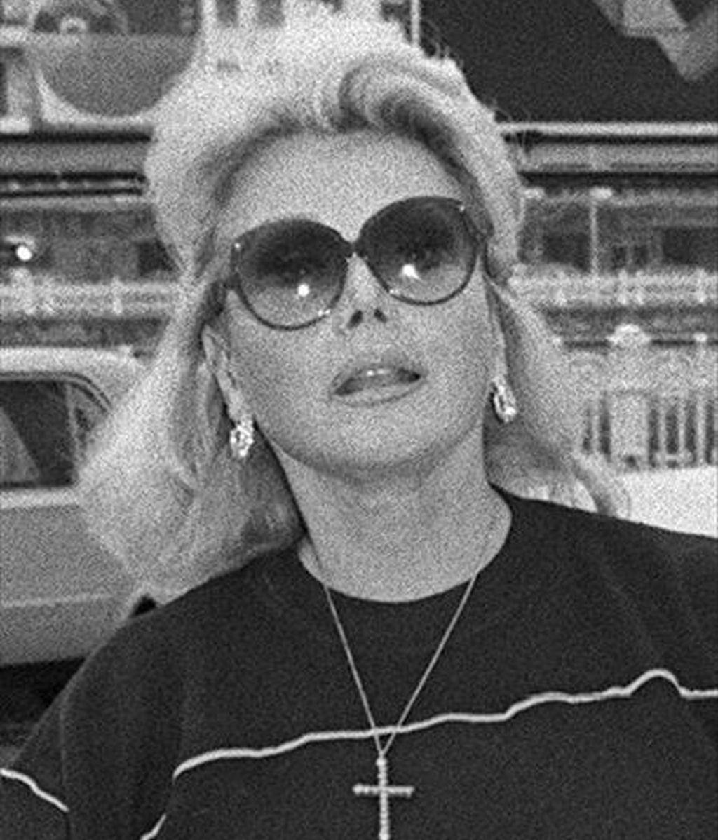 La actriz Zsa Zsa Gabor, en una imagen del Festival de Cine de San Sebastián de 1984. EFE/Archivo