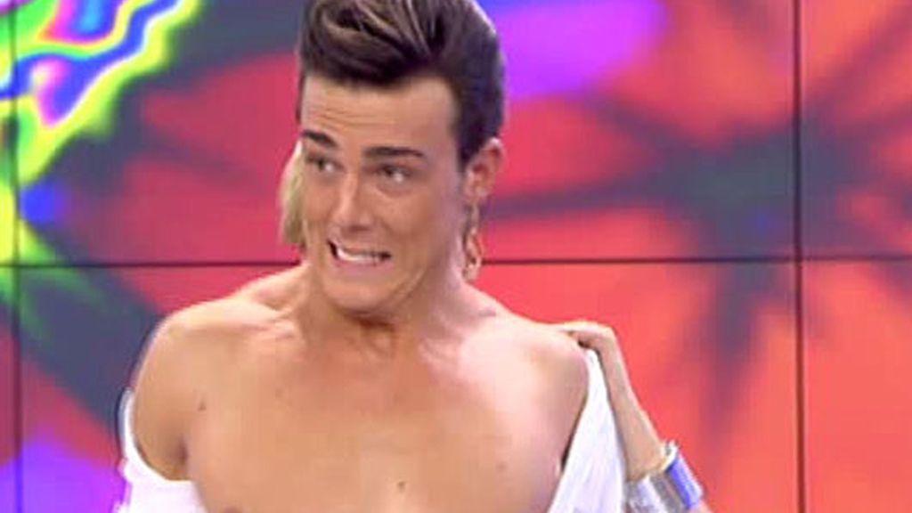 Tania Llasera desnuda al bailarín de 'La Bordiú'