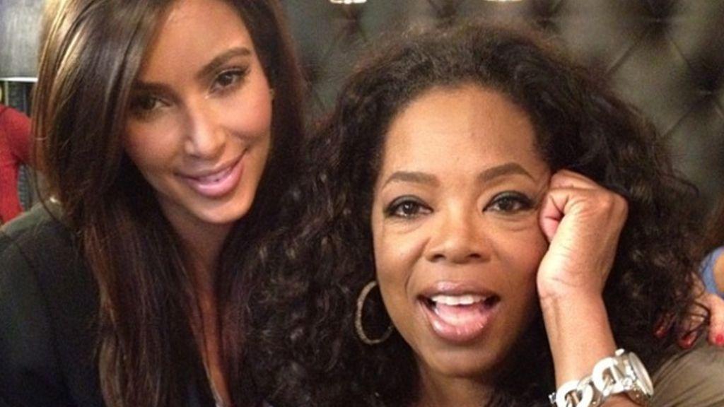 Oprah en el Twitter de Kim Kardashian